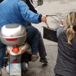 Scippatore disabile  con la Genny !
