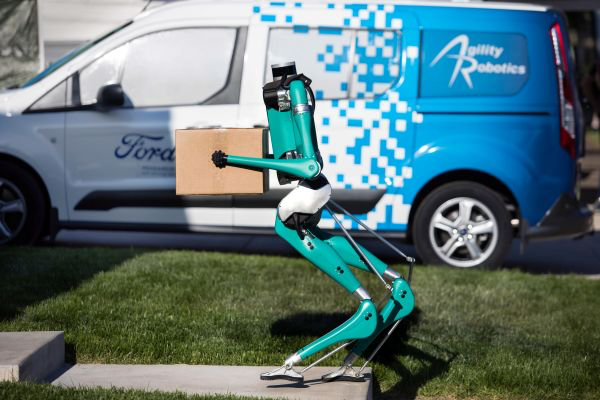 """Good job Ford!"" - Millions of disabled people push a chair like Garibaldi did, but for them the problem is to deliver packages with biped robots!!"